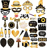 Losuya 2020 Fête du Nouvel an Accessoires de photomaton 46pcs Drôle DIY Kit Photobooth Accessoires pour Le Nouvel an Parti Décoration Faveur