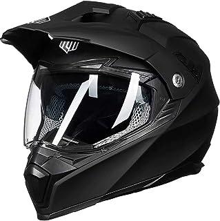 ILM Off Road Motorcycle Dual Sport Helmet Full Face Sun Visor Dirt Bike ATV Motocross..