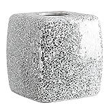 Mosaic Glass Tissue Holder Decorative Tissue Cover Square Box (Silver)