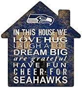 "Seattle Seahawks Positive Family message 12"" House shapped sign"
