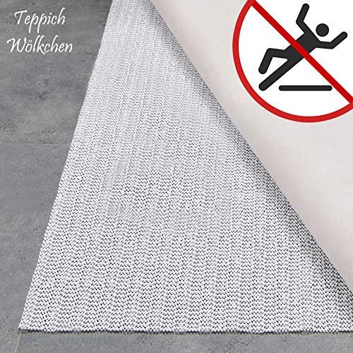 Teppich Wölkchen Teppich-Unterlage Anti-Rutsch-Matte II 17 Größen II rutschfest in Schublade Auto Kofferraum und Zuschneidbar I 70 x 140 cm