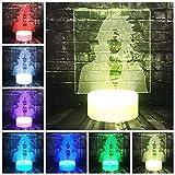 Luz de interfaz de dibujos animados Uchiha Sasuke 3D LED Puerto USB Decoración LED Lámpara de ahorro de energía Luz de noche Regalo de vacaciones