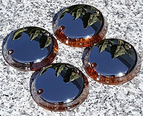 i5 Full Chrome Turn Signal Lenses for Kawasaki Vulcan 500 750 800 1500 Classic Nomad Drifter