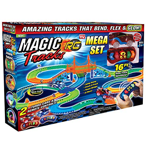 Ontel Magic Tracks Mega RC with 2 Remote Control Turbo Race Cars and...