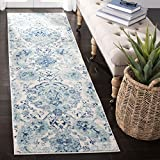Safavieh Madison Collection MAD600E Bohemian Chic Paisley Runner, 2' 3' x 8', Cream/Turquoise