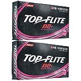 2pk Top Flite Womens D2+ Diva Pin Golf Balls - Pink - 30 Balls