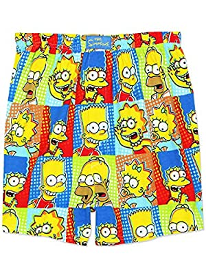 GET COMFORTABLE - Relax after a day at work or school in these comfy and cozy Yankee Toy Box exclusive Simpsons boxer shorts! These boxers are available in men's sizes Small (28-30), Medium (32-34), Large (36-38), X-Large (40-42), and XX-Large (44-46...