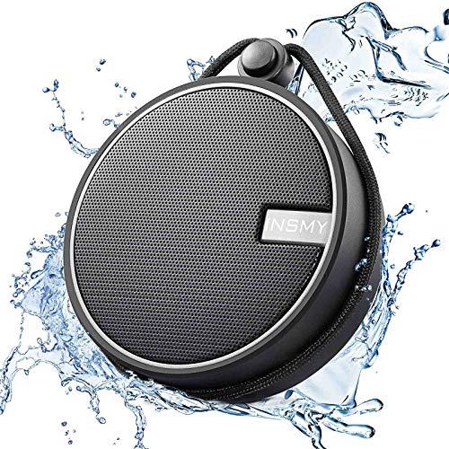 INSMY C12 IPX7 Waterproof Shower Bluetooth...