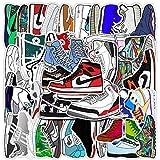 WOKAO Zapatillas de Deporte de Marca de Marea de Dibujos Animados, Pegatinas de Grafiti, Maleta con Ruedas para Equipaje, Funda para portátil, Pegatinas Decorativas para Scooter, 50 Uds