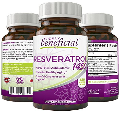 RESVERATROL1450 - 90day Supply, 1450mg per Serving of Potent...