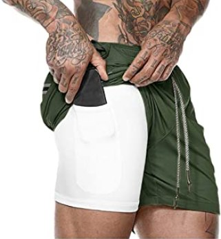 Image result for 2 in 1 gym shorts