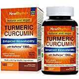 Organic Turmeric Curcumin with BioPerine and 95% Curcuminoids, 1960mg, 180 Veggie Capsules