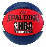 Spalding NBA Highlight Outdoor 83-573Z Balón de Baloncesto, Unisex, Azul Marino/Rojo/Blanco, 7