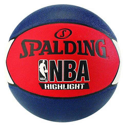 Spalding Uni NBA Highlight Outdoor SZ.7 (83 - 573z) Basketball, Navy/Rosso/Bianco, 7.0