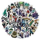 YMSD My Academia Anime Hero - Adhesivo de PVC impermeable para equipaje, portátil, 50 unidades