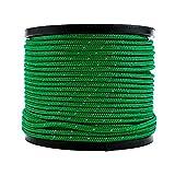 Soomloom テント用ロープ パラコード 反射材付き 張り綱 全長50m ロープ直径2㎜/3㎜/4㎜/5㎜ (4mmブラック50M)