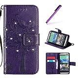 EMAXELERS HTC One M8 Coque Bling Glitter Cristall Wishing Tree Etui de...