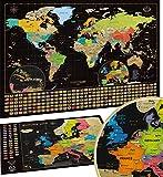 Carte du Monde à gratter XXL - Carte du Monde en Poster Extra Large et...
