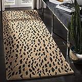 Safavieh Soho Collection SOH721A Handmade Beige and Brown Premium Wool Runner (2'6' x 12')