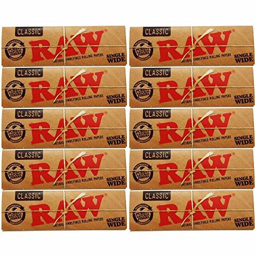 raw classic paper ロー クラシックペーパー 手巻き用シングル70ミリ 5.10.20個セット (10個セット)