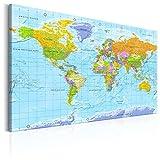 murando français 120x80cm Carte du monde pour mettre des punaises &...