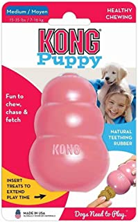 KONG – Puppy Toy – Natural Teething Rubber – Fun to Chew, Chase and..