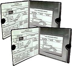 ESSENTIAL Car Auto Insurance Registration BLACK Document Wallet Holders 2 Pack –..