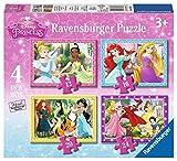 Ravensburger Puzzle 07397 , Principesse Disney, 4 Puzzle in a Box, 12-16-20-24 Pezzi, Puzzle Bambini, Età Consigliata 4+ Anni