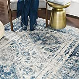 Artistic Weavers Desta Blue/White Area Rug, 5'3' x 7'3'