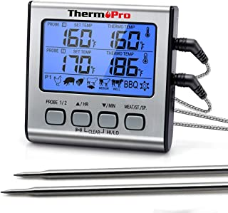 ThermoPro TP-17 Dual Probe Digital Cooking Meat Thermometer Large LCD Backlight Food..