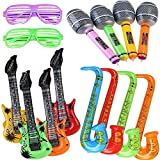Yojoloin 14 PCS Gonflables Guitare Saxophone Microphone Lunettes Ballons...