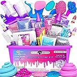 Original Stationery Unicorn Slime Kit Completo – Laboratorio Slime per Bambine – Fabbrica dello Slime Unicorno Fluffy, Cloud con Glitter, Attivatore e...