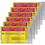CLUSAZ 6 Couvertures de Survie Or XL (210 x 160cm) - Retient 90% de la Chaleur, Imperméable,...