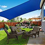 XCSOURCE Sun Shade Sail Rectangle 10'x13' UV Block Canopy Water Resistant Awning Shade Cover, Sun Shade Cloth for Patio Garden Backyard Lawn Outdoor Activities (Blue)