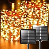 Guirlande Solaire Exterieur,【Lot de 2】44M 440 LED Au total Litogo Ruban...