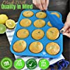 Baking & Beyond Premium Silicone Muffin Pan - Non Stick Silicone Cupcake Pan - 12 Cup Muffin Tray, 24 Cups Mini Cupcakes Pans - Silicon Muffin Molds - Silicone Baking Set - 2 Spatulas - Recipe E-book #1