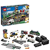 LEGO City Cargo Train 60198 Remote Control Train Building Set with Tracks for Kids(1226 Pieces)