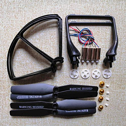 Elica di alta qualit per JJRC H68 A20 A8 YidaJia D68 Quadcopter Drone Accessori Set Motori Eliche Atterraggio Skid Telaio protettivo ecc. Kit di parti Accessori per droni (Colore: Bianco)