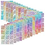 288 Piezas de Plantillas de Vinilo de Uña Pegatina de Decoración de Arte de Uña Kit de Diseño de...