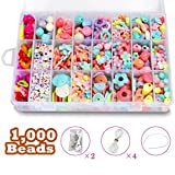 DIY Beads Set with 4 Packs String, 24 Different Types and Shapes...