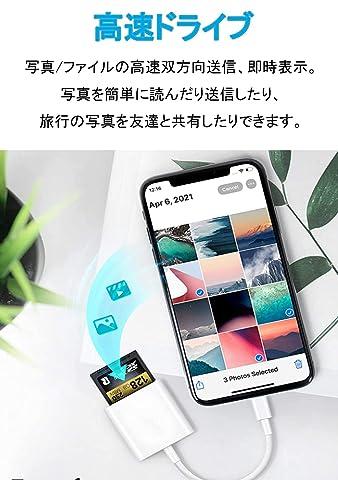 OOOUSE iPhone SD カードリーダー 外形寸法 対応SDカード