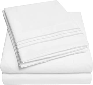 1500 Supreme Collection Bed Sheet Set – Extra Soft, Elastic Corner Straps, Deep..