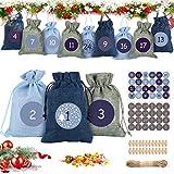 Bolsas Calendario Adviento, 24 DIY Calendario de Adviento Casero Navidad,...