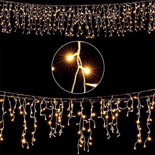 Deuba LED Regenkette 600 LEDs warmweiß Weihnachten Deko Beleuchtung | In- & Outdoor |Schutzklasse IP44 | Modellauswahl