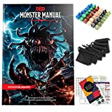 Monster Manual Dungeons and Dragons 5th Edition with DND Dice and Complete Printable Kit - D&D Core...