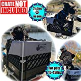 RuffLyfe DIY Crate Conversion/Bike Dog Carrier Package (Crate NOT Included) Padded Liner is 2 Sizes in One + 4 Point Safety Harness & Crate Fasteners Holds Pets 20lb+ for Safe Pet Bicycle Travel