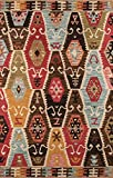 Momeni Rugs Tangier Collection, 100% Wool Hand Tufted Tip Sheared Transitional Area Rug, 5' x 8', Multicolor