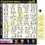 Eazy How To Kettlebell Exercise Workout Banner Poster Big 28 X 20 Train Endurance, Tone, Build Strength & Muscle Home Gym Chart