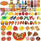 joylink 139 Pièces Jeu de Cuisine Legumes Fruits Jouet Alimentaire Jeu D'imitation Jouet Jouets...