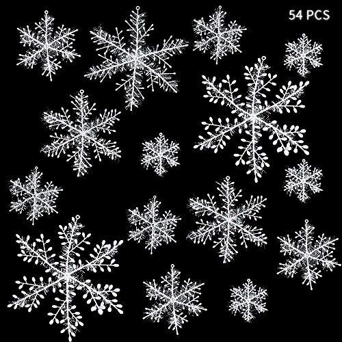 ZoneYan Copos de Nieve Navidad, Copos de Nieve Decoracion, C